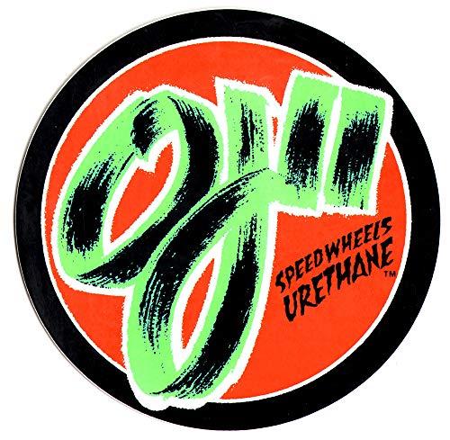 OJ II Speed Wheels Skateboard Sticker. 15cm Wide Approx. Skate Snow surf Board BMX Guitar Van