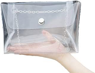 Mengsha's Transparent Fashionable Crossbody PVC Vinyl Clutch Purse Bag