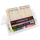 Lápices de Colores Colore – Set Premium de Lápices de Colores Pre-afilados para Colorear Dibujos – Borrador y Sacapuntas GRATIS - Gran Complemento Artístico para Niños y Adultos – 60 Colores