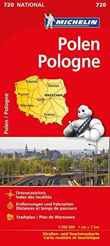 Michelin Polen: Straßen- und Tourismuskarte 1:700.000 (MICHELIN Nationalkarten)
