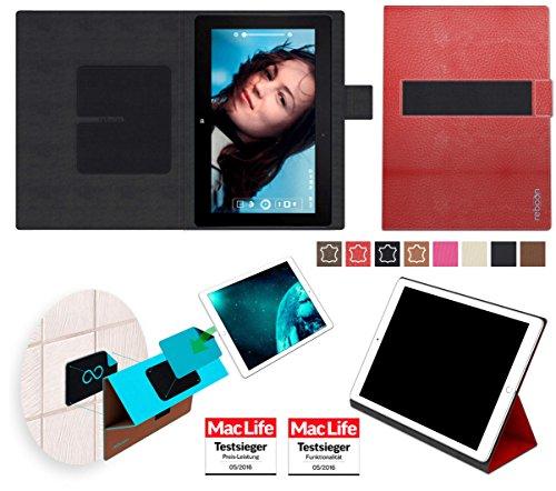 reboon Hülle für Asus VivoTab RT TF600T Tasche Cover Case Bumper | in Rot Leder | Testsieger