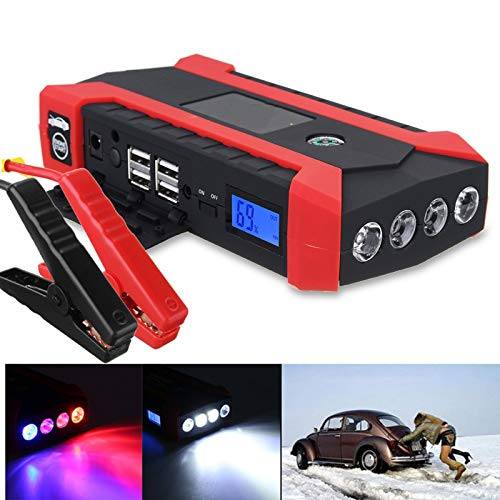 Purchase WQYRLJ 89800Mah Car Jump Starter Charger Battery Multifunction 12V 600A 4USB LED Light Auto...