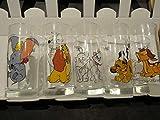 DISNEY PARIS - 5 bicchieri grandi, composto da 1 bicchiere Dumbo, 1 bicchiere 'La Bella e Le Clochard', 1 bicchiere gli Aristogatti, 1 bicchiere il Re Leone, 1 bicchiere
