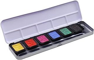 Finetec F7002 Metal Paint Box, 6 Opaque Premium Pearlescent Paints High Chroma, 6 Colours, 23 x 6.5 x 1.7 cm