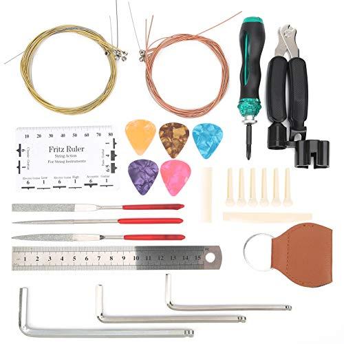 Accesorios de instrumentos musicales portátiles Kit de herramientas de reparación de guitarra...
