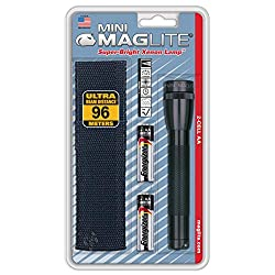 Maglite M2A01H AA Mini Flashlight and Holster Combo-Pack Black