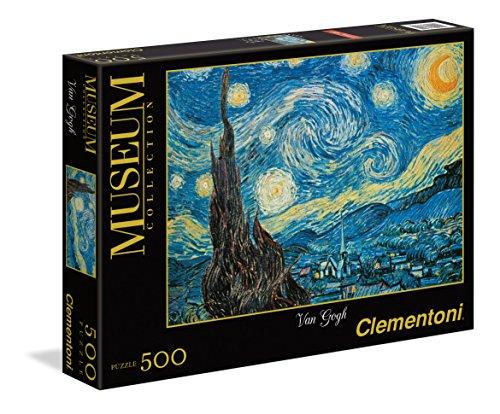 Clementoni- Noche Estrellada Van Gogh Los Pingüinos De Madagascar Puzzle 500, Piezas, Multicolor (30314.4)