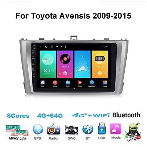 Android 10.0 Car Stereo Radio Double DIN Sat Nav para Toyota Avensis 2009-2015 Navegación GPS Unidad Principal de Pantalla táctil de 9 Pulgadas DSP RDS Reproductor Multimedia Receptor de Video