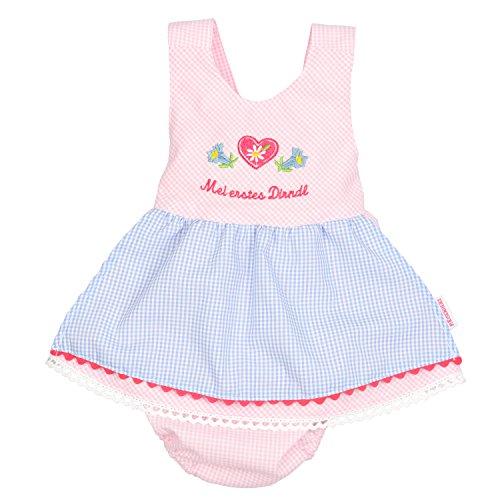 P.Eisenherz Mädchen Baby Dirndl Body mit Höschen rosa 86-92 MEI ERSTES Dirndl