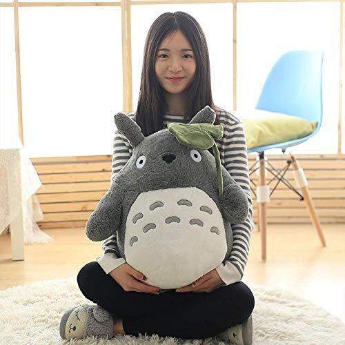 W-XY Totoro 30-70cm, Peluches Bebe Suave y Seguro, Sentirse Cómodo Juguete Mejor Regalo para Niños, Parejas, Mascotas - Gris