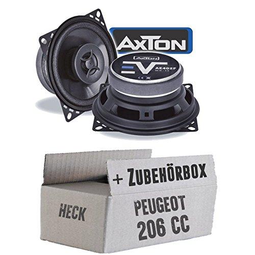Lautsprecher Boxen Axton AE402F | 10cm 2-Wege Koax 100mm Auto Einbauzubehör - Einbauset für Peugeot 206 CC Heck - JUST SOUND best choice for caraudio