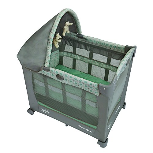 Graco Travel Lite Pack N Play with Stages Keaton, Brown/Green