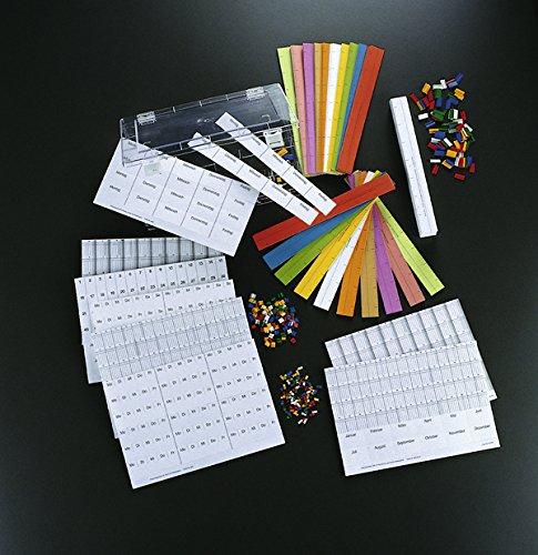 Legamaster 7-465200 Basissortiment für Streifenplaner, Set mit Kunststoffsignalen, Datumslot, Planungs- und Datumsstreifen