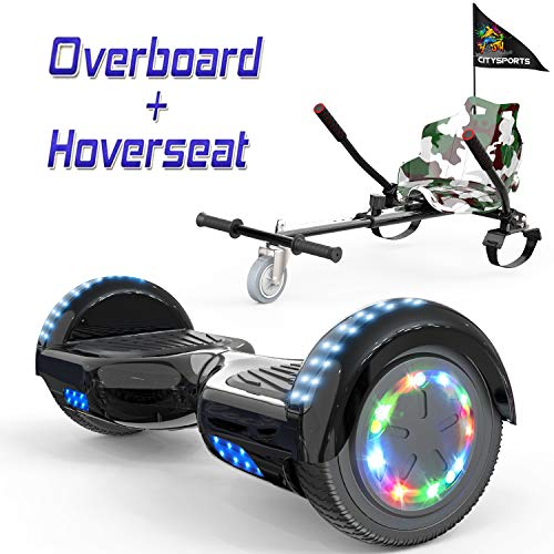 petit un compact COLORWAY Overboard Hober Scooter Board Gyropod Bluetooth SUV 6,5 pouces, Scooter électrique…