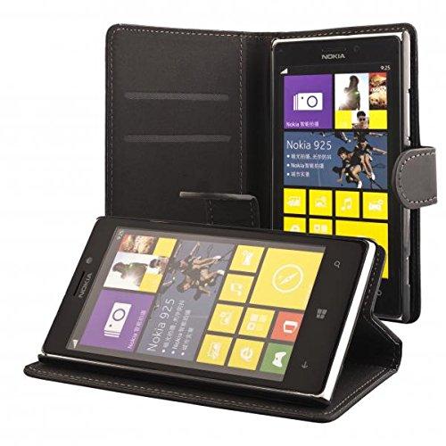 ECENCE Nokia Lumia 925 Custodia a Portafoglio Protettiva wallet case cover 11030101