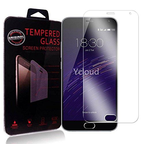 Ycloud Panzerglas Folie Schutzfolie Bildschirmschutzfolie für Meizu M2 Note (5.5Zoll) screen protector mit Festigkeitgrad 9H, 0,26mm Ultra-Dünn, Abger&ete Kanten