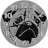 Night Ing Reloj de Pared Redondo Reloj de Escritorio Novedad