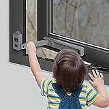 EUDEMON Cerradura de ventana segura para niños, tope de ventana, fácil de...