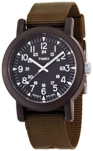 Timex Trend T2N363PF - Reloj de Cuarzo para Hombres, Correa de Tela, Color Verde