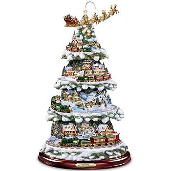The Bradford Exchange Thomas Kinkade Animated Tabletop Christmas Tree with Train  Wonderland Express