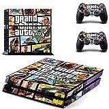 TAOSENG Grand Theft Auto Style Ps4 Skin Sticker para Playstation 4 Console 2 Controladores Calcomanía Vinilos Protectores