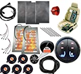 Tech Era 12v car Heated and Cooled seat pad Kits System Left/Heated Right/Cooling 2 Button Round Switch Heater pad car Ventilated seat Cooler 6 Fans 1 seat-Blow Wind Style