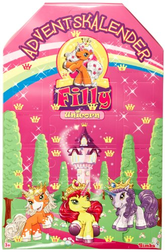 Simba 105957518 - Filly Einhorn Adventskalender 2011