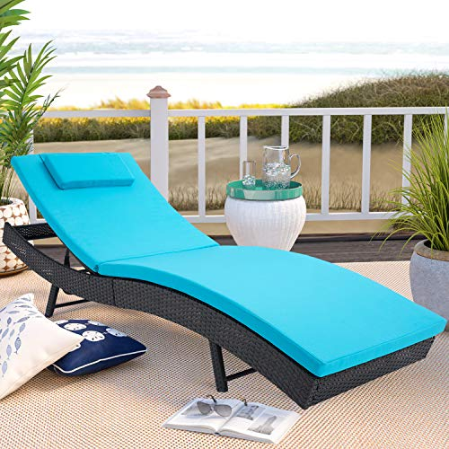 Incbruce Outdoor Patio Furniture Adjustable Chaise Lounge Chair