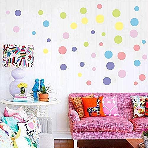 Adesivi da parete per la decorazione della casa Art Murale Colorato Polka Dot Wall Sticker Camera dei Bambini Sfondo Poster Colore Rotondo Dot Wall Applique Arte Decorativa