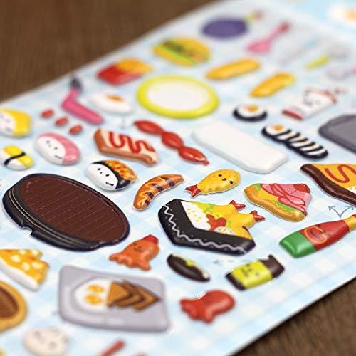 Sticker Toy for Children Puffy Stickers Reward Girl Kid 3D Cartoon Kawaii Scrapbook Funny Food Mini Book Diary Bubble Stickers