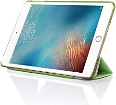 Green Color 2 in 1 Smart Cover Magnetic PU Leather Case Cover Hard Crystal Back Case for iPad Mini 4