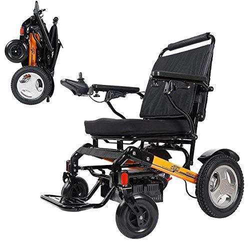OSL Silla de ruedas eléctrica, Silla de ruedas eléctrica ligera y plegable, para personas mayores y discapacitadas Plegable OSL