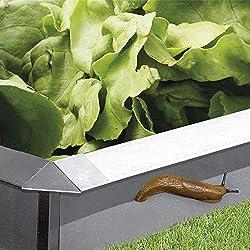 bellissa Schneckenblech-Set aus Metall - 7520 - Schneckenzaun für den Garten, feuerverzinkt - 8-TLG. Set, 4X Schneckenblech + 4X Eckteil