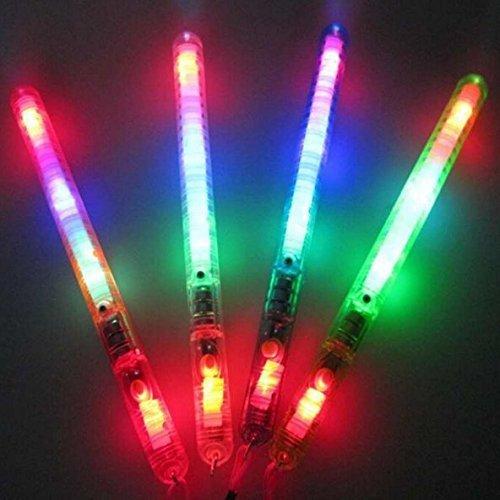 Uchic 5 pcs clignotant Baguette LED Glow Light Up Stick Patrol clignotante Multicolore clignotant Jouets Concert dragées