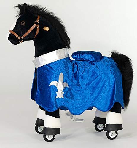 PonyCycle Inline Animals Black Beauty 2020 Weihnachtsspecial ! (U-426-15), Größe M , mit Sound, mit Decke & Zügel inklusive, Farbe:Blau