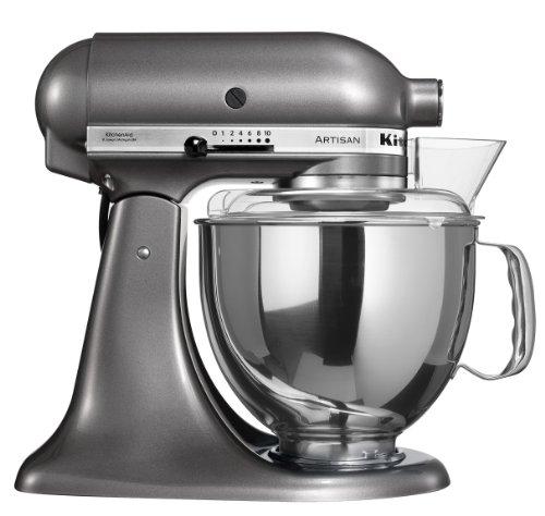 KitchenAid Artisian Mixer-Pearl 5KSM150PSEPM Robot da Cucina Artisan PRO Metallic, 300 W, Acciaio, 10 velocità, Grey