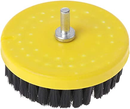meizhouer Dia. 110mm Black Clean Brush Used on Electric Drill for Leather Plastic Wooden Furniture Car interiors Cleaning