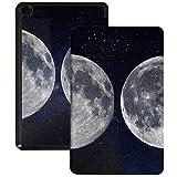 QIYI Funda para Kindle Fire 7 Tablet 9ª Generación Infantil Funda delgada ligera plegable con múltiples ángulos de visión Smart Case con Auto Wake/Sleep - Fases de luna