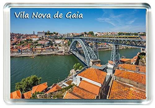 I388 Vila Nova de Gaia Jumbo Imán para Nevera Portugal Travel Fridge Magnet