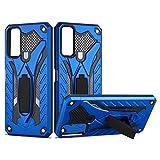 GOGME Hülle für Vivo Y20s / Vivo Y20 Handyhülle, Wasserdicht Anti Scratch Durable Staubdicht Handyhülle Mode Ultra Slim Schutzhülle Heavy Duty Dual Layer Stoßfest Mit Halterung, Blau