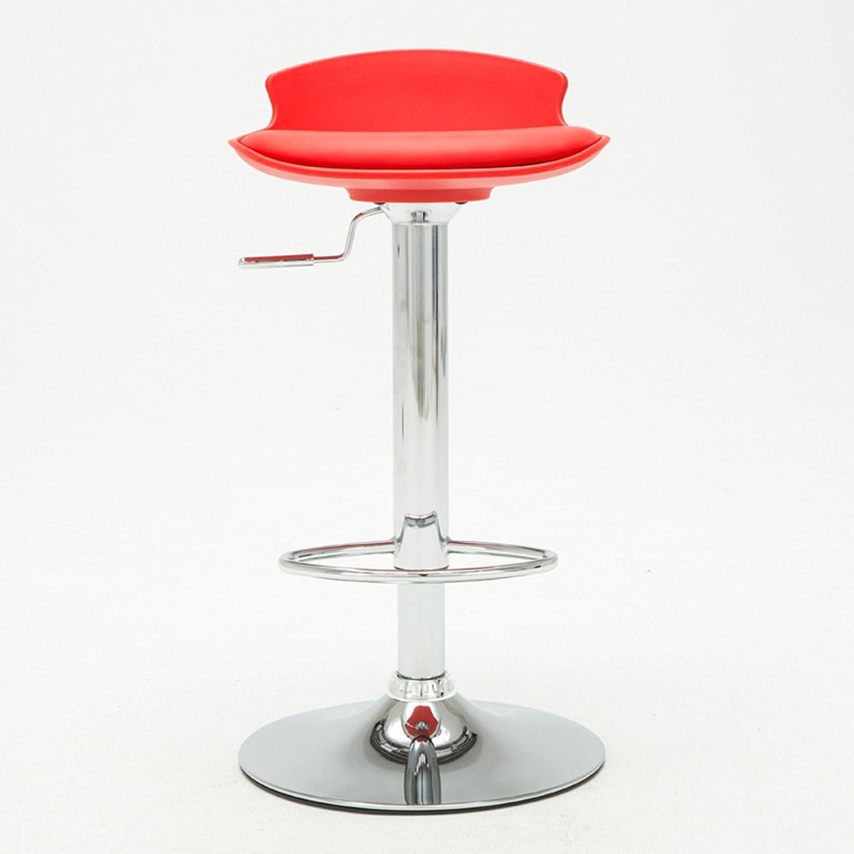 PU leather cushion   bar chair   lift chair   home high bar bar   bar casual stool ( color   Red )