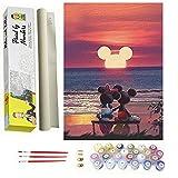 DonElton Pintar por numeros Disney, Mickey Puesta de Sol – Cuadros para Pintar por...