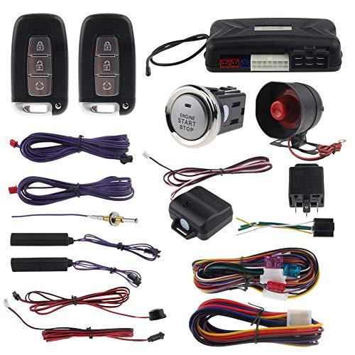 EASYGUARD EC002-V PKE Car Alarm System Remote Starter Push Button Password keypad Keyless Go System hopping code