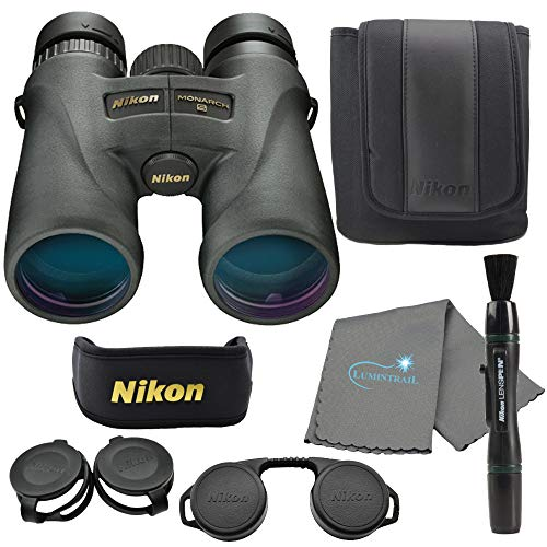 Best Price Nikon Monarch 5 10x42 Binoculars (7577) Waterproof/Fogproof Bundle with a Nikon Lens Pen ...