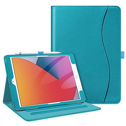 Fintie Funda para iPad 10,2' 2020/2019 - [Protección de Esquina] Carcasa de Multiángulos con Bolsillo Función de Soporte y Auto-Reposo/Activación para iPad 8/7.ª Gen, Azul Legendario