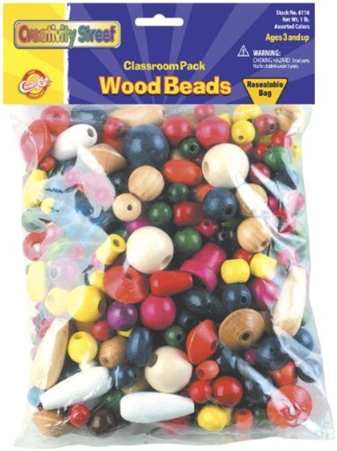 Big Bag of Wood Beads by Chenille Kraft