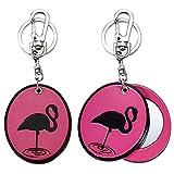 Joe Cool Handtasche Charm Pink Flamingo Compact Spiegel Made mit Acryl