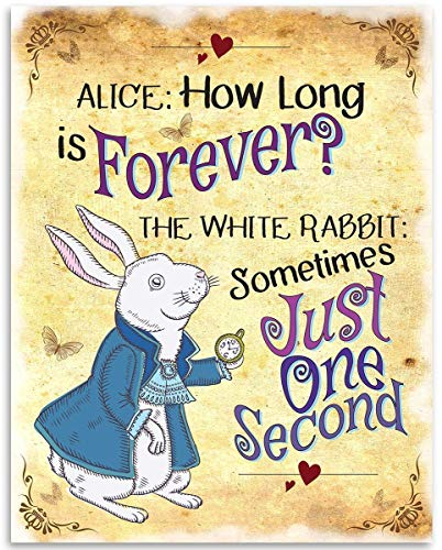 Alice in Wonderland - Alice How Long Is Forever - 11x14 Unframed Art Print - Great Decor and Gift for Lewis Carroll Fans Under $15