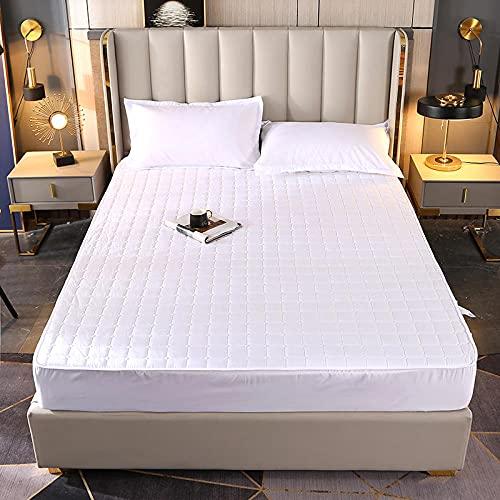 ChileYile Cepillado Acolchado Poja Ajustada 3D Ropa de Cama Impresa Colchón Protección de colchón Individual Double King Size Bed Regalo-GRAMO120 * 200 cm