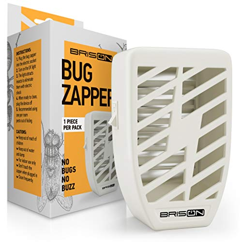 Indoor Plug-in Bug Zapper - Power Portable Home Electric Insect Trap - Odorless Noiseless for Removes Flies Mosquitos Gnats Moth and Bugs